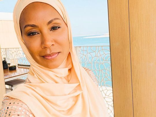 Jada Pinkett Smith shares images wearing the hijab on Instagram.