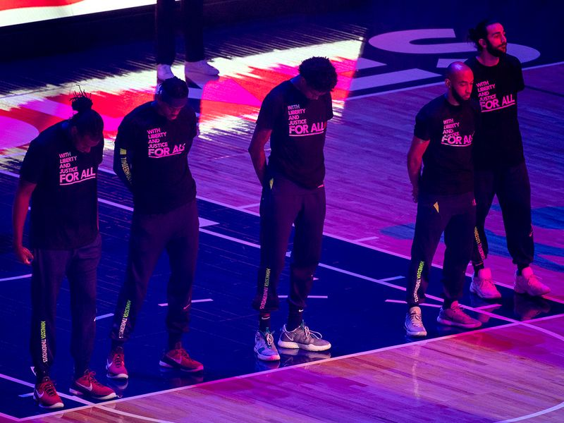 NBA: Players hold moment of silence for 20-year-old Duante Wright, shot by police, ahead of rescheduled game