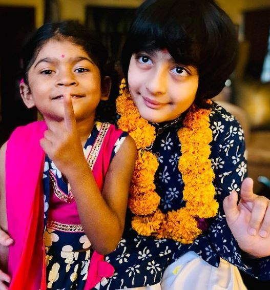Mandira Bedi's children
