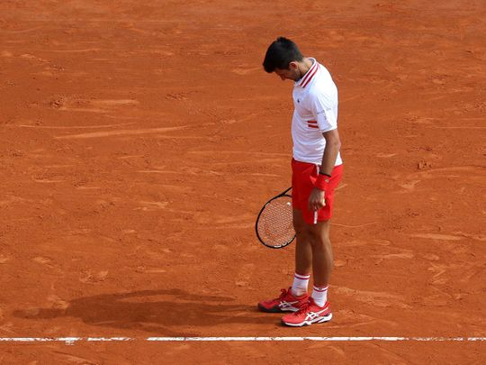 Serbia's Novak Djokovic was defeated by Dan Evans on day six of the Monte Carlo Masters