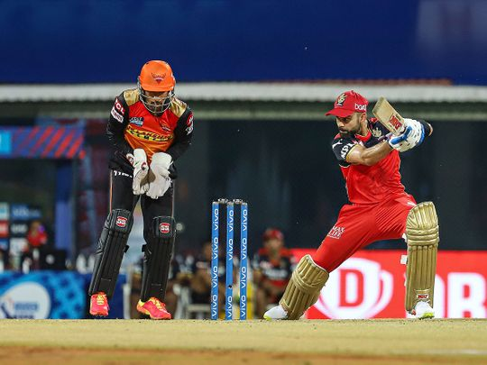 Virat Kohli in action for RCb against Sunrisers Hyderabad