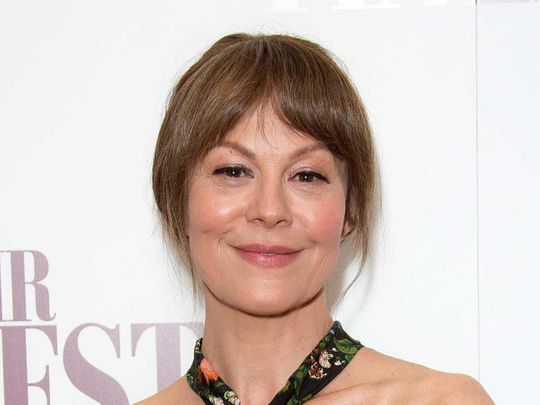 Actress Helen McCrory poses for photographers at a special screening of