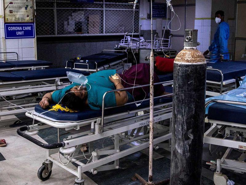 india covid patient oxygen