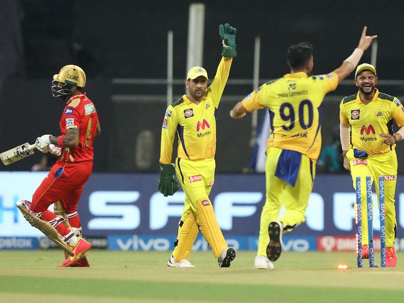 Chennai's MS Dhoni against Punjab