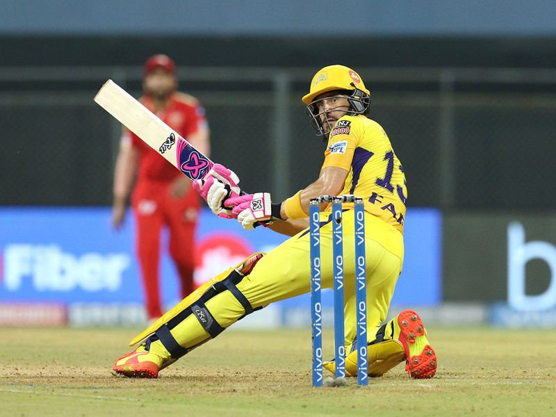 Faf Du Plessis was in charge for Chennai Super Kings against Punjab Kings