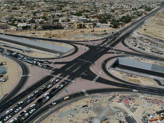 Tunnel at the intersection of Al Khawaneej Street with Sheikh Zayed Bin Hamdan Al Nahyan Street