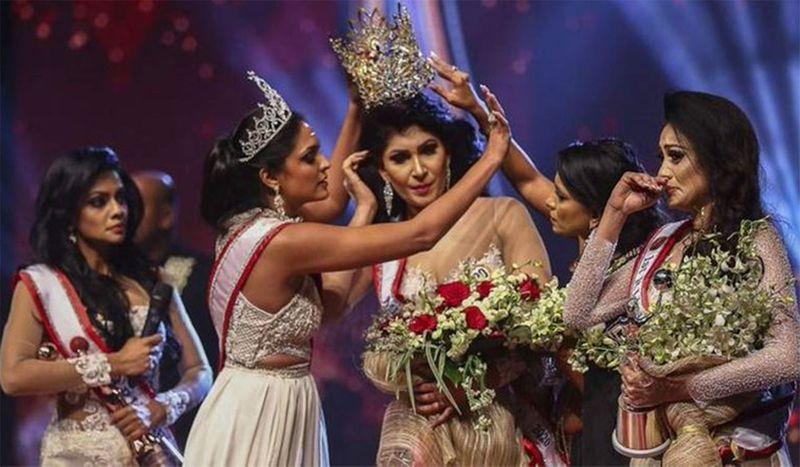 Mrs Sri Lanka winner Pushpika De Silva was accused of being divorced