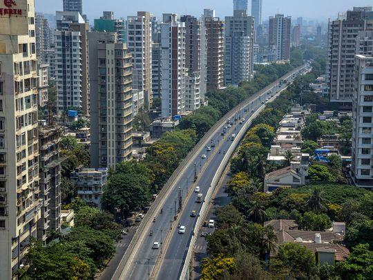 Stock Mumbai skyline city property