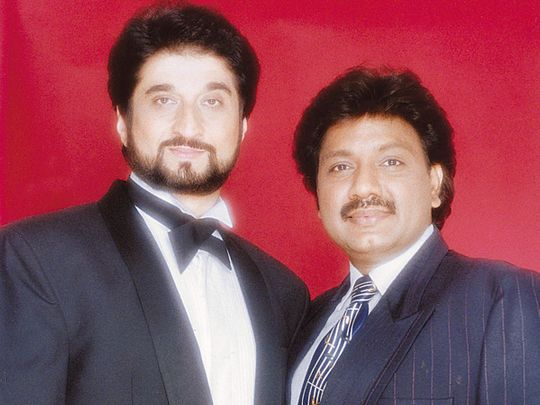 Bollywood music composers Nadeem Saifi and Shravan Rathod