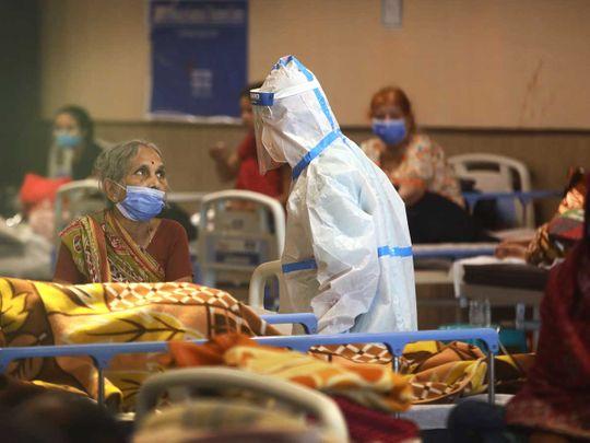 India health worker covid