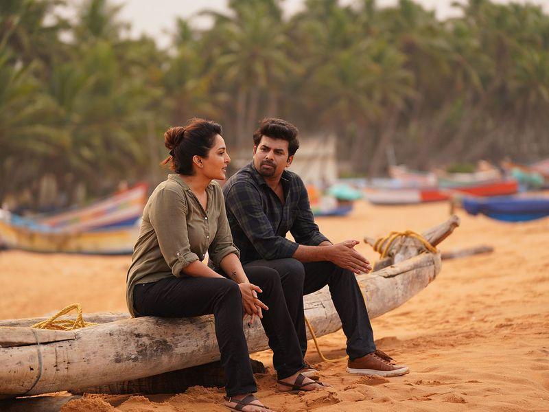 Sunny Wayne in 'Chathurmukham' with Manju Warrier