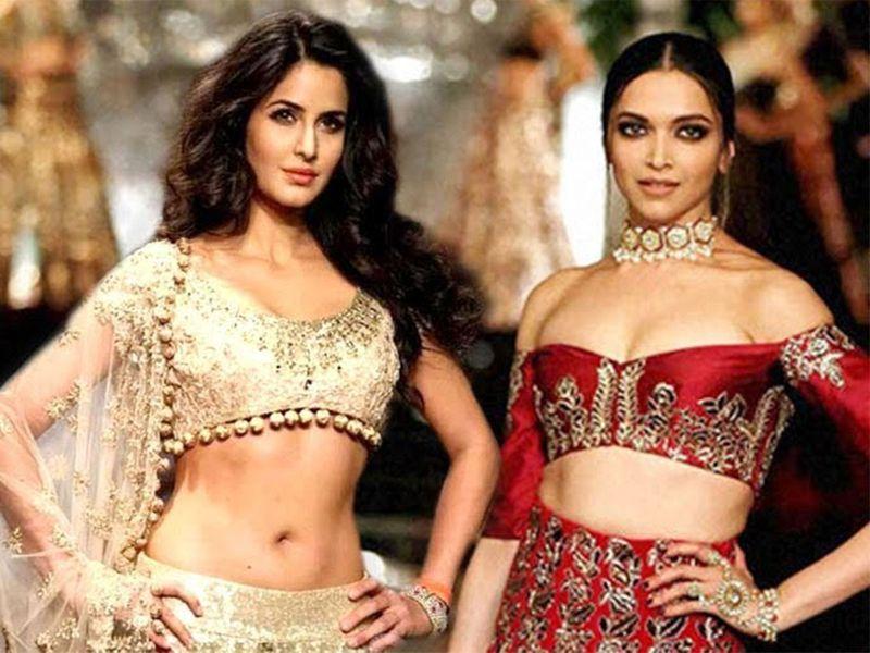 Deepika Padukone & Katrina Kaif Togethr On Ramp As A Showstopper For Manish Malhotras Bridal Wear