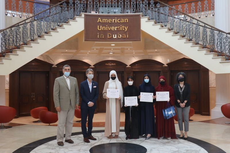 American University in Dubai fetes student winners of short-film contest on COVID-19 impact