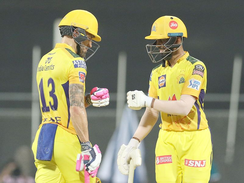 Faf du Plessis and Ruturaj Gaikwad