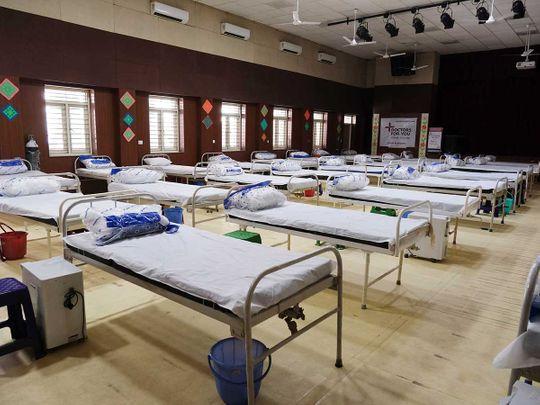 India beds covid hospital