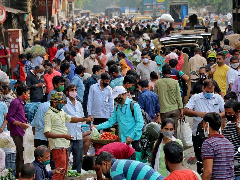 crowded marketplace a