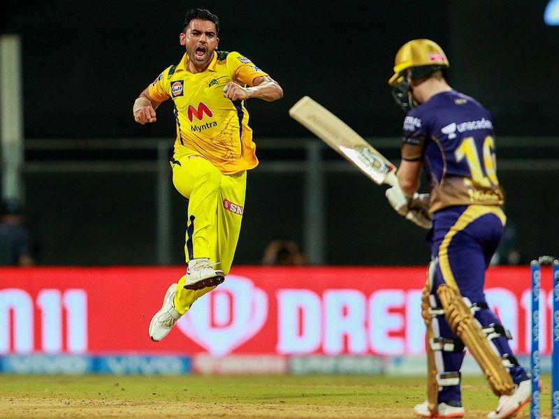 Fast bowler Deepak Chahar