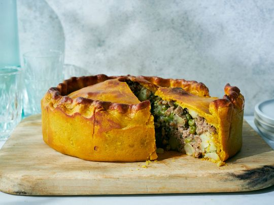 Food personality Nadiya Hussain's turmeric-rich samosa pie