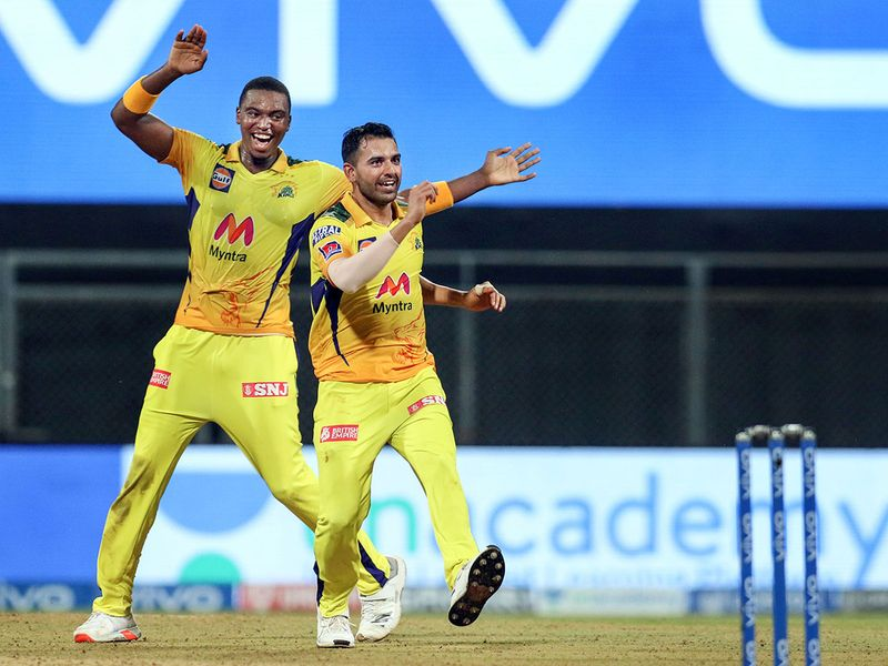 MS Dhoni's Chennai Super Kings overcame Pat Cummins' onslaught with the bat to earn an 18-run victory over Kolkata Knight Riders on Wednesday, and Sunrisers Hyderabad finally got their first points in the Indian Premier League by beating Punjab Kings by nine wickets.
