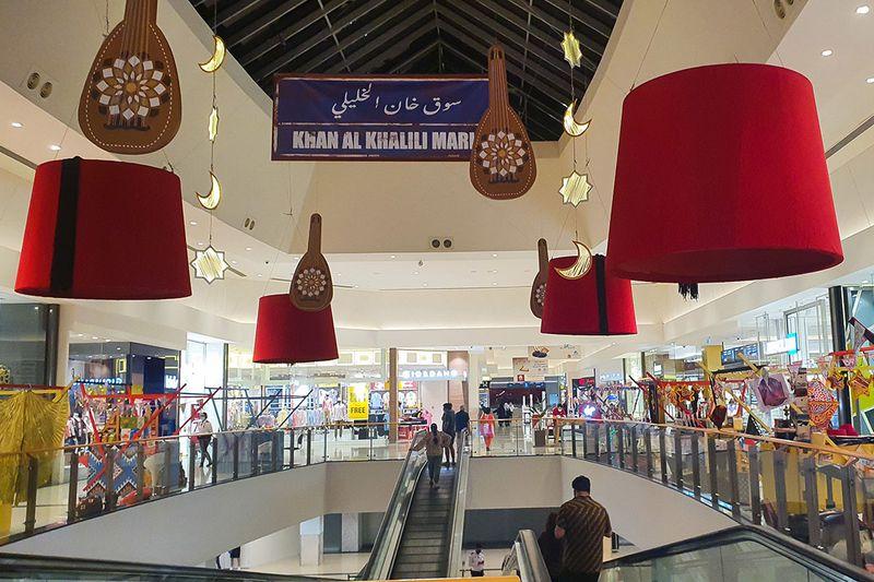 Ramadan decoration at City Center in Sharjah.