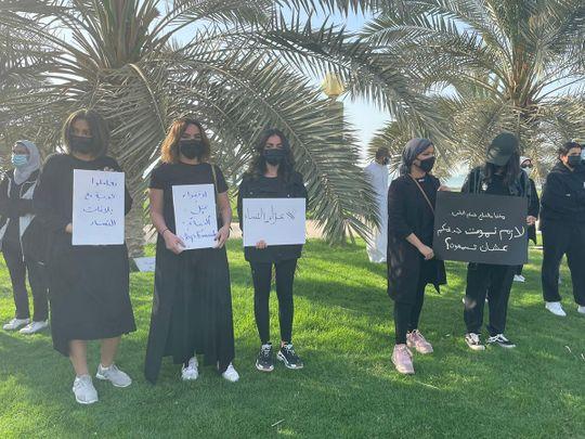 Several protestors gathered at Kuwait's Erada Square
