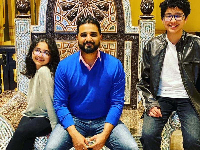 NAT Salah Fahad with his sister Hibba and father Fahad-1619156091513