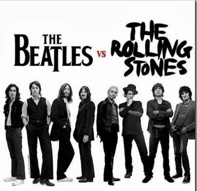 The Beatles Vs The Rolling Stones poster