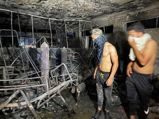 Fire engulfs Iraq hospital
