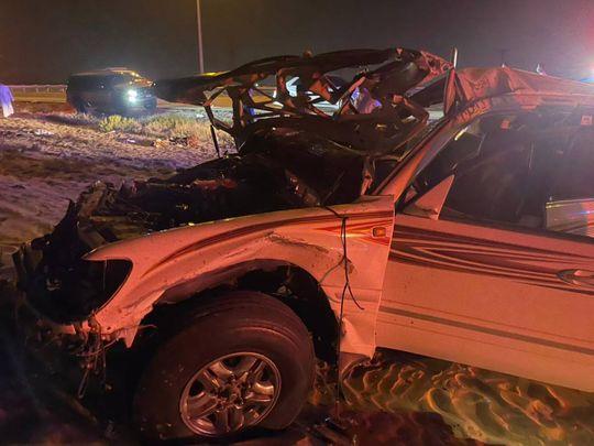Road accident Umm Al Quwain