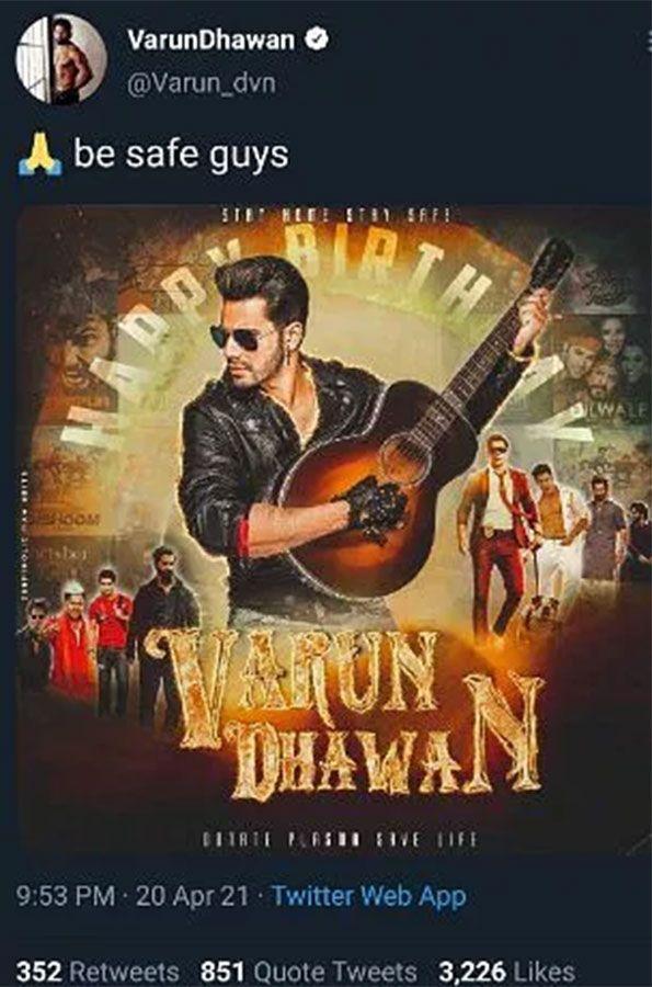 Varun Dhawan poster