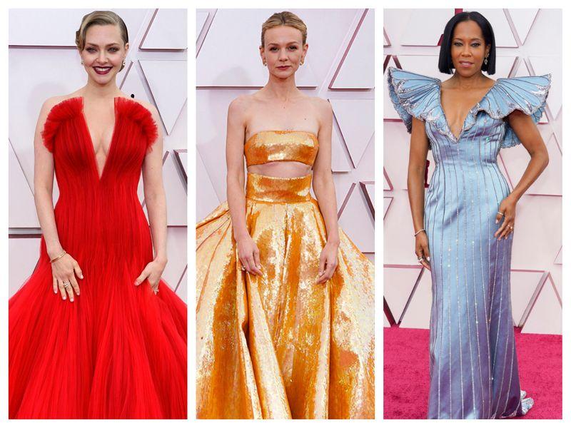 Amanda Seyfried, Carey Mulligan and Regina King at Oscars 2021