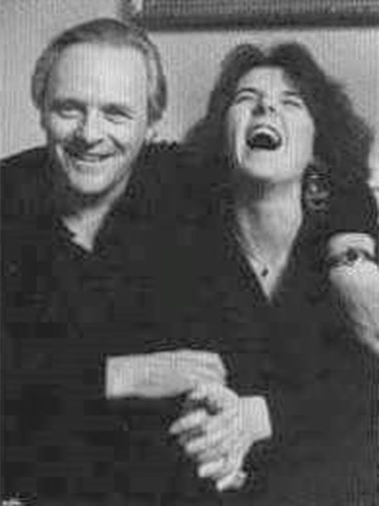Anthony Hopkins and his daughter Abigail Hopkins