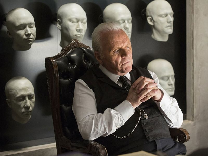 Anthony Hopkins in the movie  Westworld .