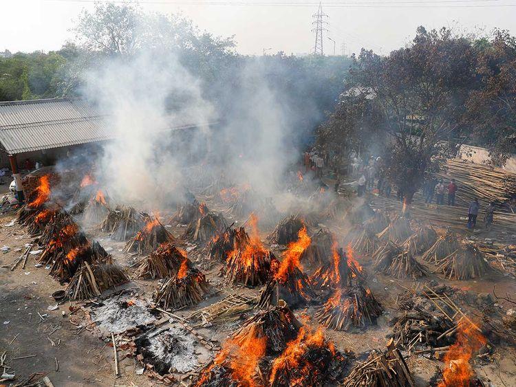 India cremation covid