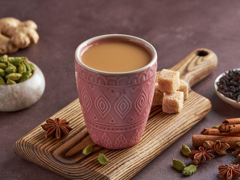 Middle Eastern popular tea drink - karak chai