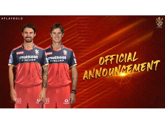 RCB's Australians Adam Zampa and Kane Richardson are returning home from the Indian Premier League