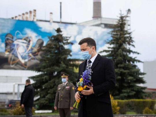 Ukraine President Volodymyr Zelenskiy Chernobyl