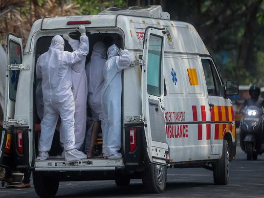 Health workers ambulance india covid