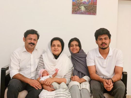 NAT 210421 Mohammed Rafeeque with his wife and three children-1619500719277