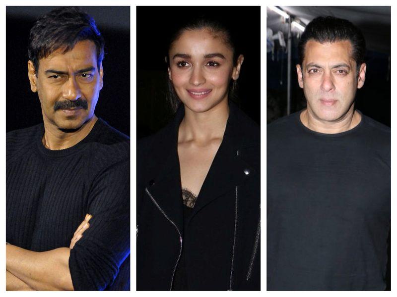 Ajay Devgn, Alia Bhatt, Salman Khan