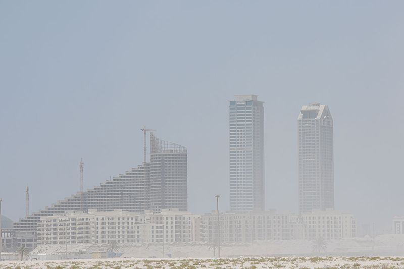 Sand storm in Sharjah