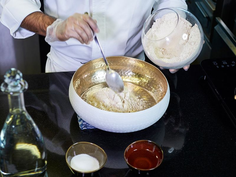 Step 1 - Making Phulka Roti or whole-wheat flour puffed Indian bread