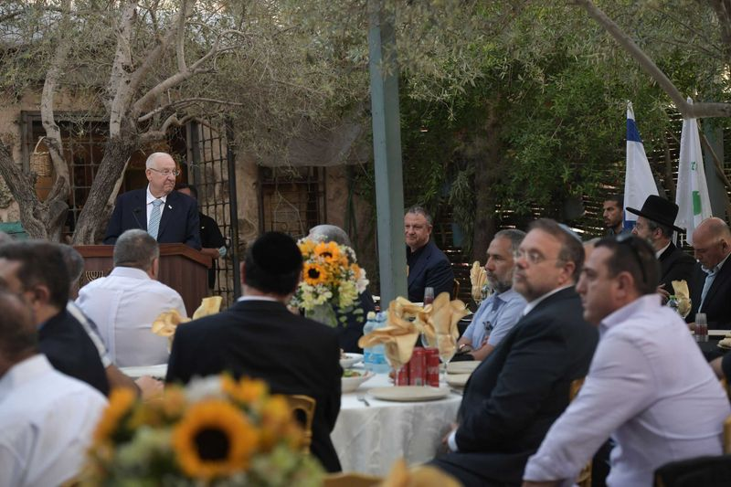 Iftar with Israeli president and a number of delegates and officials in Abu Ghosh