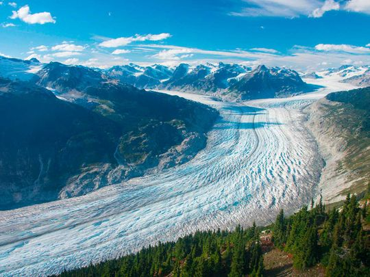Klinaklini glacier in British Columbia
