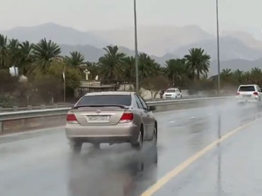 Rain across the UAE