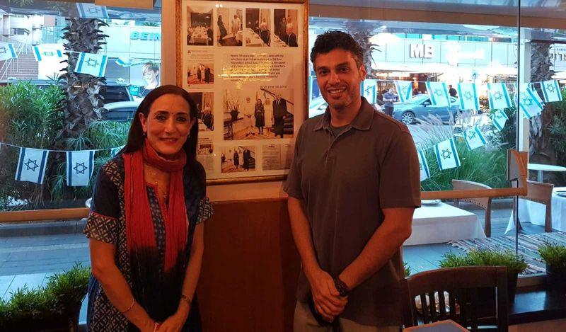 UAE Ambassador Mohammad Al Khajah with the queen of Indian cuisine Reena Pushkarna