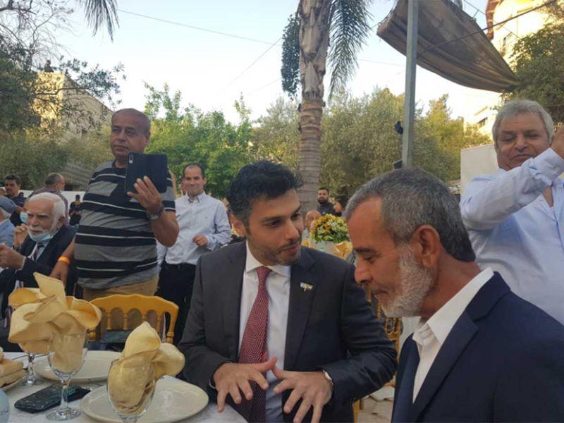 UAE ambassador to Israel Mohammad Mahmoud Al Khajah iftar