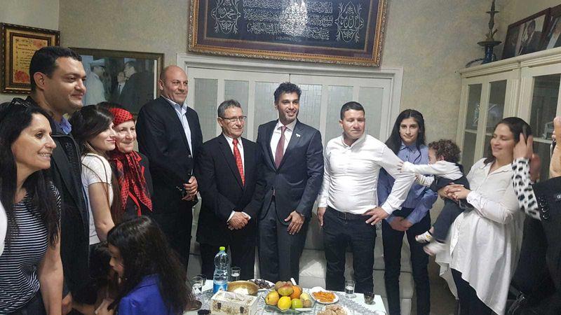 UAE ambassador with family of Abu Ghosh mayor