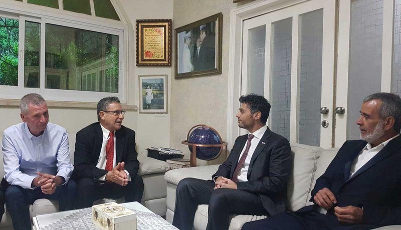 UAE ambassador with mayor of Abu Ghosh
