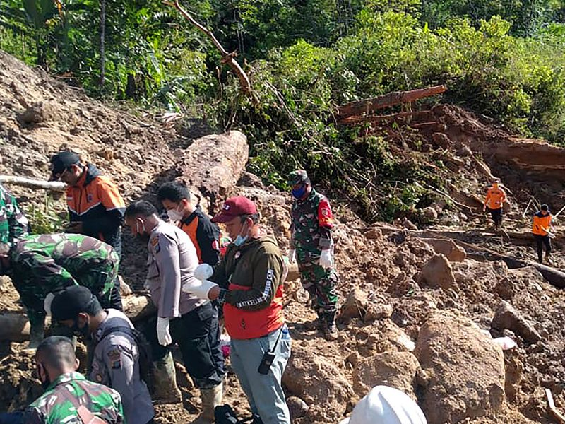 Death toll in Indonesian power plant landslide rises to 10